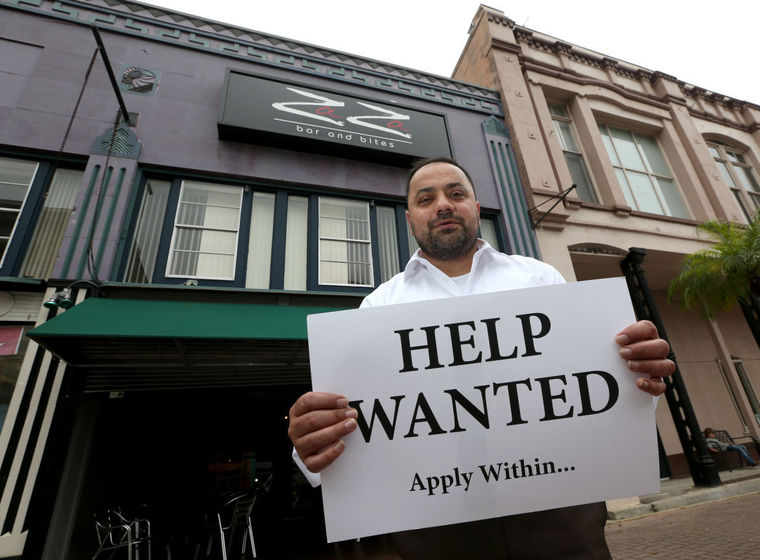 Asad Khan, owner of ZaZa Bar & Bites, wants to offer lunch service at his Postoffice Street restaurant, but hasn't been able to hire enough staff. (Gee, I wonder why?)