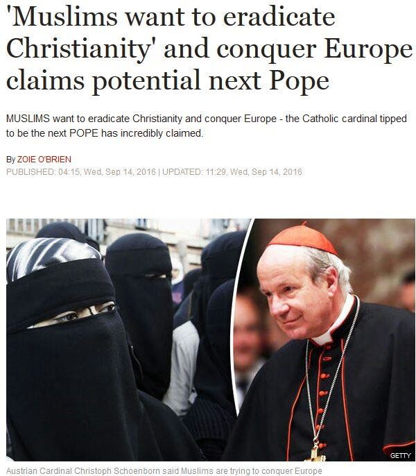 news article europe muslims christians